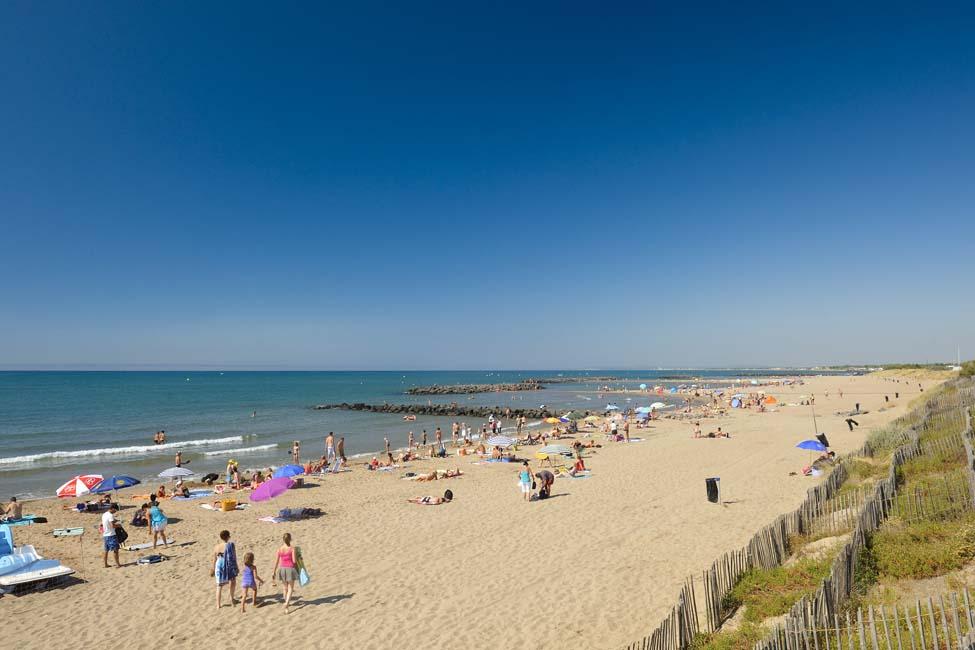 camping Vias : vue sur la plage de Vias